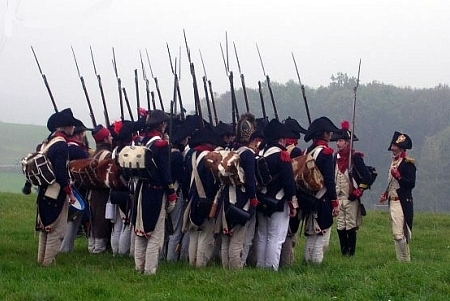 three ranks in Jena 1806 - photo by fusilier La Béquille, 18eme de ligne - http://perso.wanadoo.fr/reconstitution/